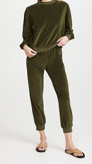 Kondi Velour Slim Track Pants