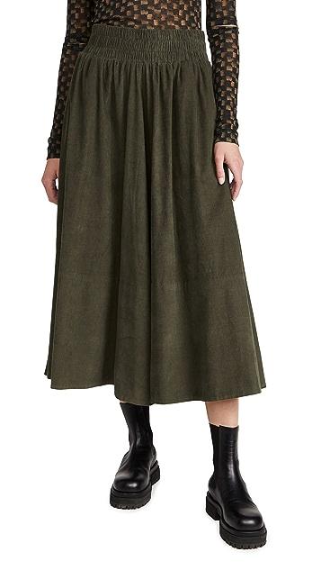 Kondi Corduroy Full Circle Skirt
