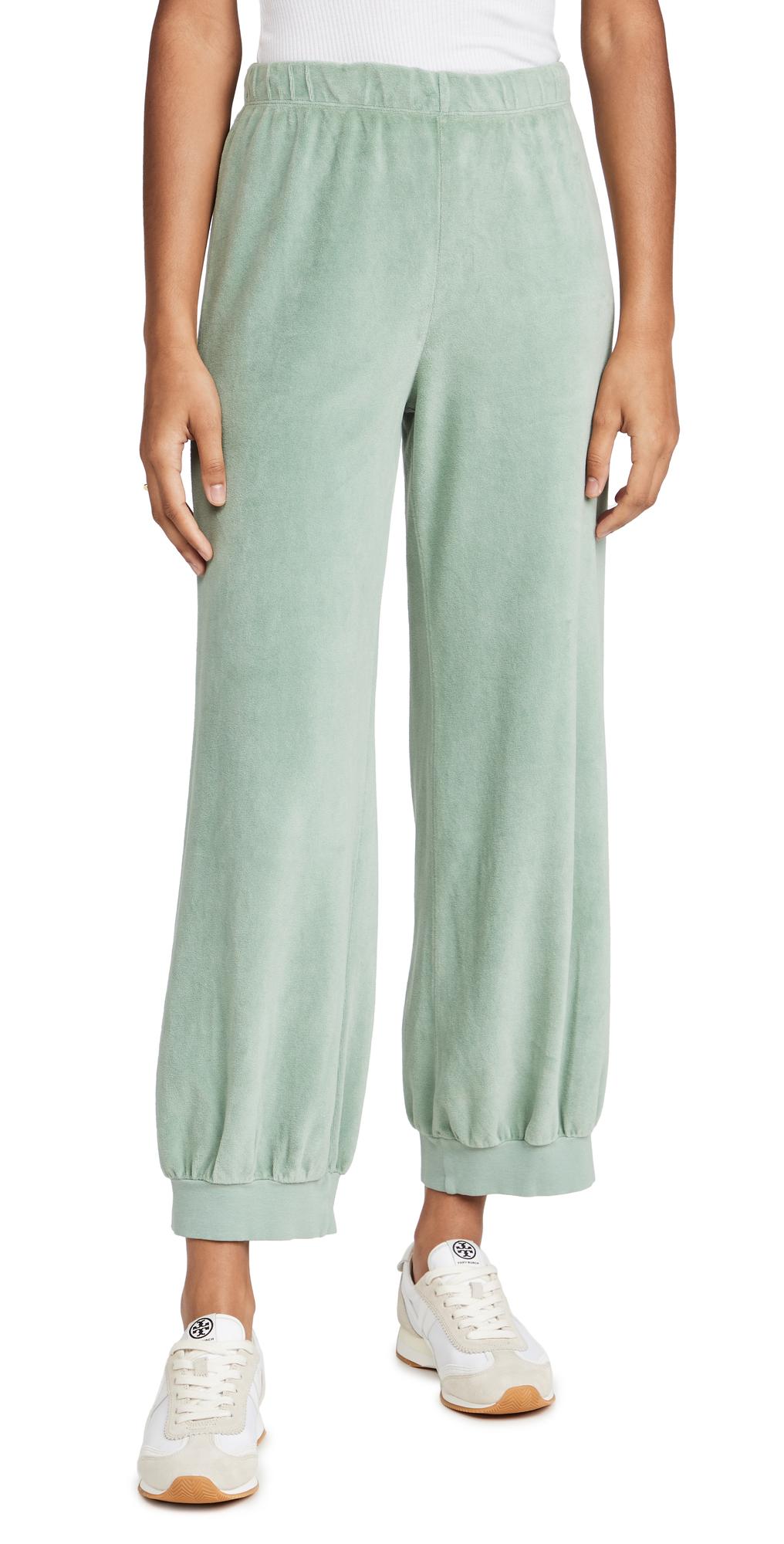 High Waist Velour Pants