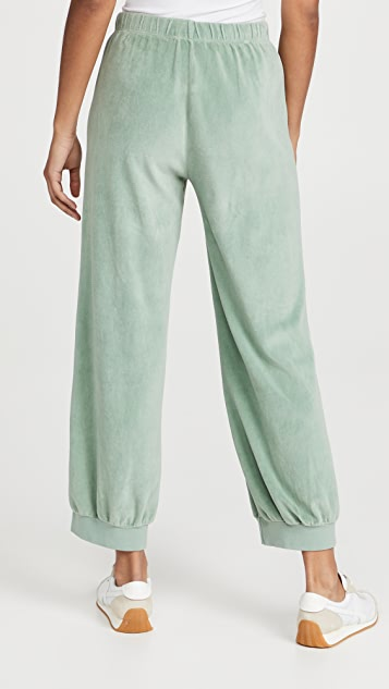 Kondi High Waist Velour Pants