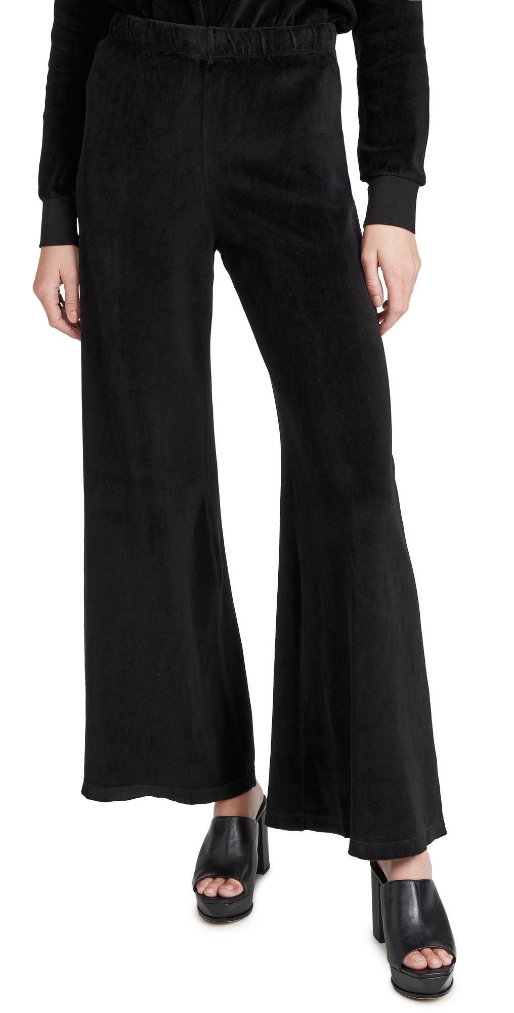 Velour Flare Pants