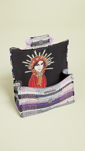 Kooreloo Большая сумка на ремне Soho с помпонами