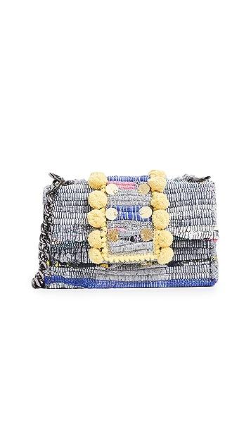 Kooreloo Soho Large Pom Poms Shoulder Bag