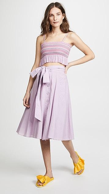 Kos Resort Tie Front Midi Skirt