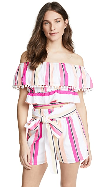 Kos Resort Off Shoulder Top & Shorts Set