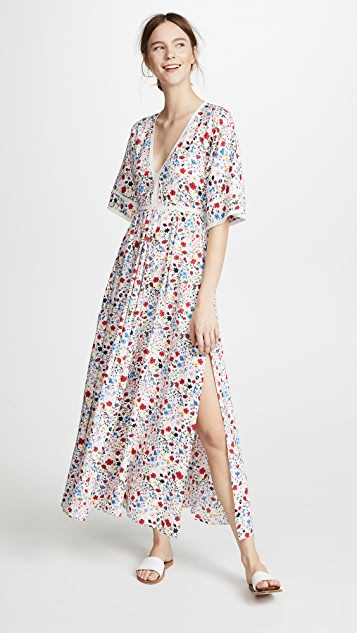 Kos Resort V Neck Maxi Dress