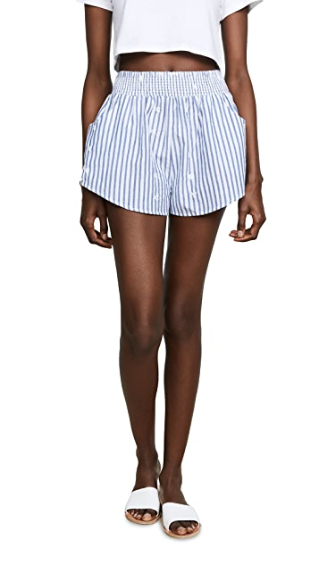 Kos Resort Striped Shorts