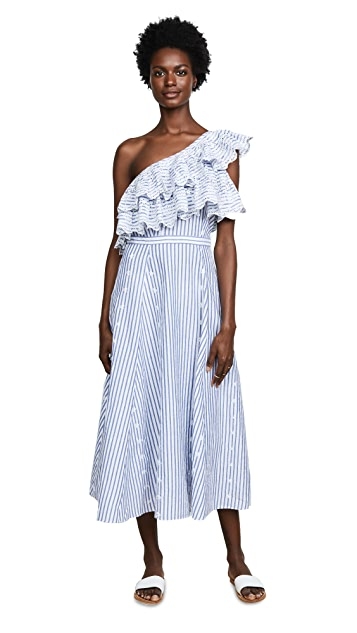 Kos Resort Printed One Shoulder Dress