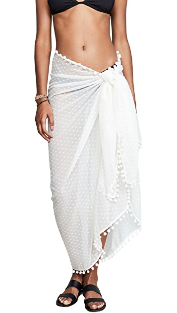 Kos Resort Embroidered Sarong
