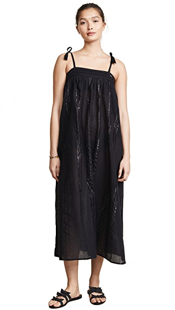 Kos Resort Metallic Cover Up Dress