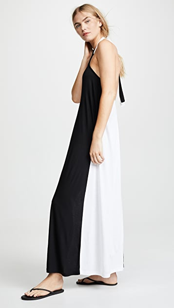 Kos Resort Halter Maxi Dress