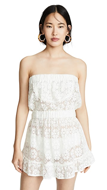 Kos Resort Кружевное пляжное платье без бретелек