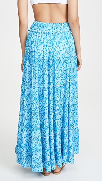 Kos Resort Макси-юбка Floral