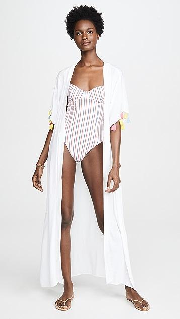 Kos Resort Tassle Kimono Cover Up