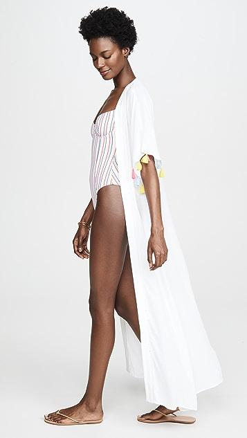 Kos Resort 流苏和服式罩衫