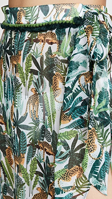 Kos Resort Юбка в стиле саронга с тропическим принтом