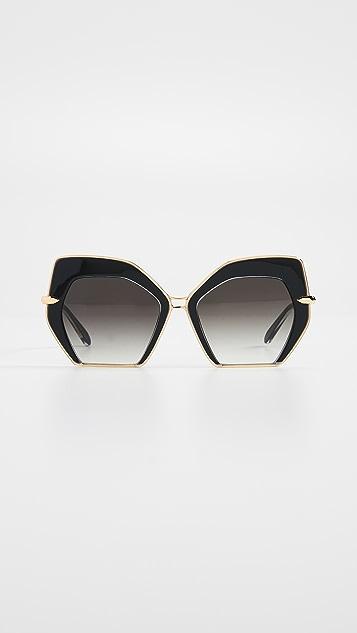 Krewe Octavia Glam Sunglasses - Black/Grey