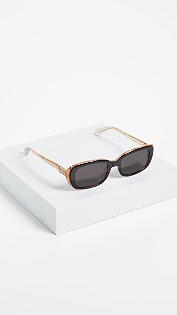 Krewe Milan Irregular Sunglasses