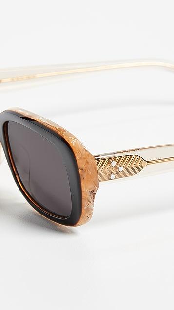 Krewe Milan Irregular Sunglasses