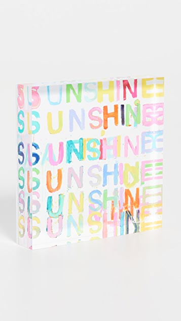 Kerri Rosenthal Here Comes The Sun 4x4 Block