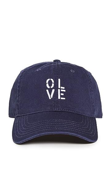 Kerri Rosenthal Olive You Baseball Hat