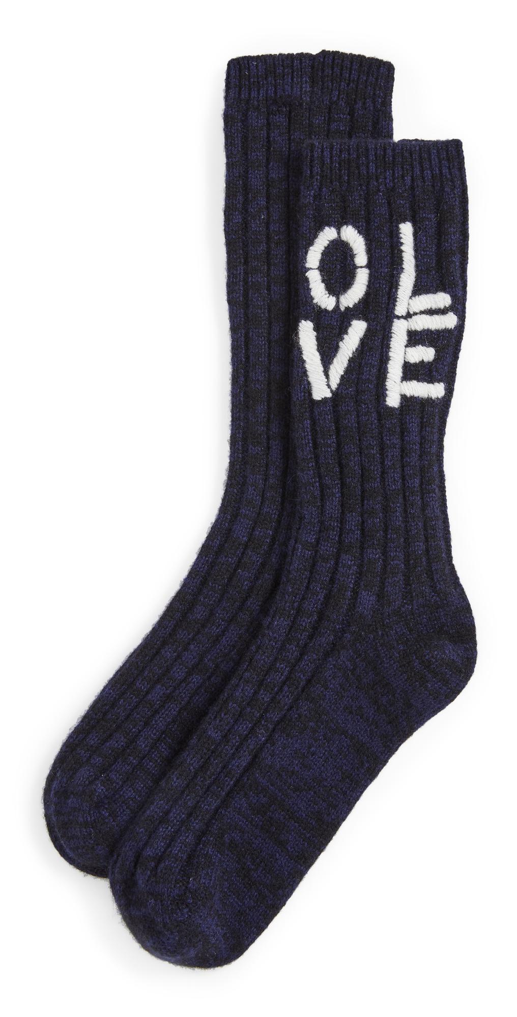 Olive You Good Mornding Cashmere Socks