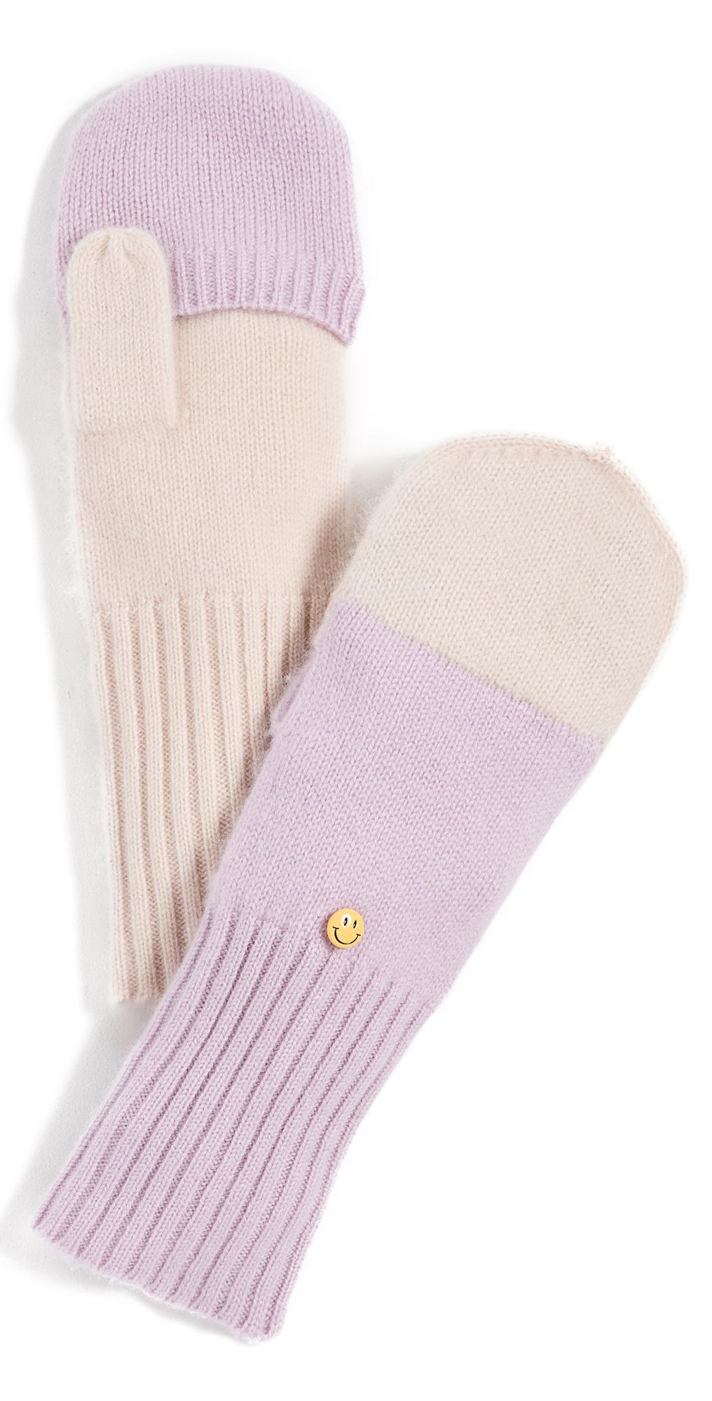 Flipblocked Cashmere Mittens