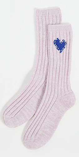 Kerri Rosenthal - Imperfect Heart Patch Cashmere Socks