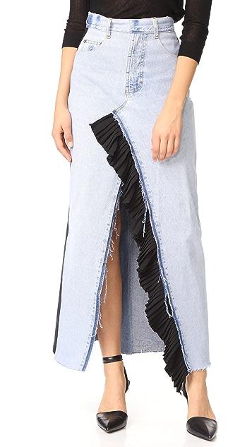 Ksenia Schnaider Reworked Denim Maxi Skirt