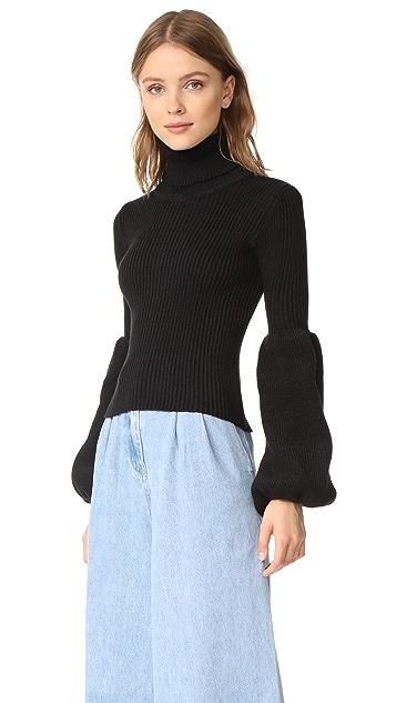 Ksenia Schnaider Wool Mix Turtleneck Sweater