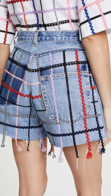 Ksenia Schnaider Vintage Rickrack Shorts