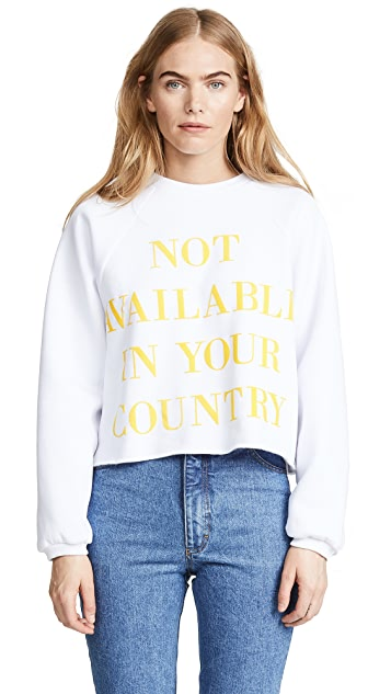 Ksenia Schnaider Not Available Sweatshirt