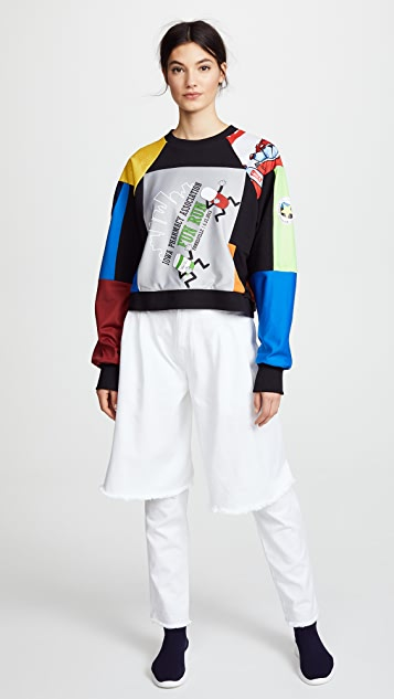 Ksenia Schnaider Cropped Vintage Sweatshirt