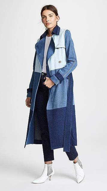 Ksenia Schnaider Denim Patchwork Coat