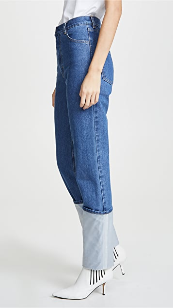 Ksenia Schnaider Jeans with Transparent Roll Up