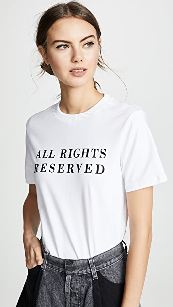 Ksenia Schnaider All Rights Reserved T-Shirt