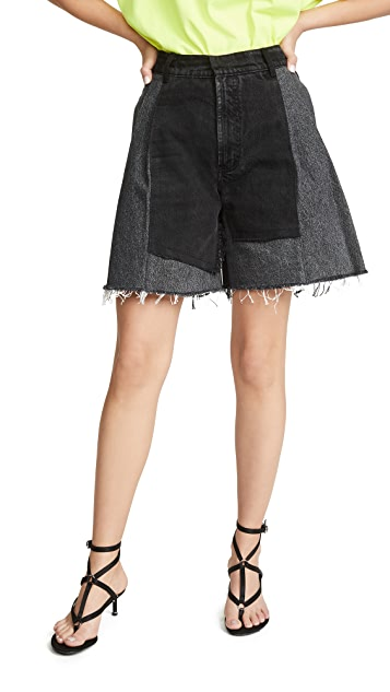 Ksenia Schnaider Reworked Denim New Shorts