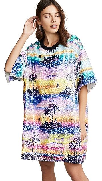 Ksenia Schnaider Hawaii Mixed Color Sequin Dress