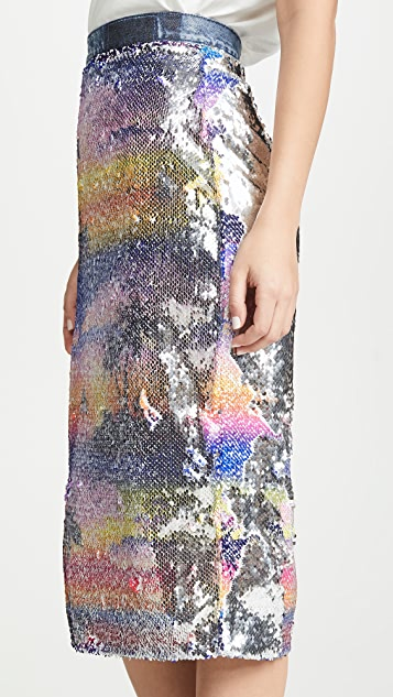 Ksenia Schnaider Hawaii Sequined Skirt