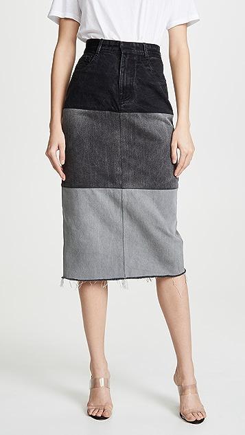 Ksenia Schnaider Reworked Denim Skirt
