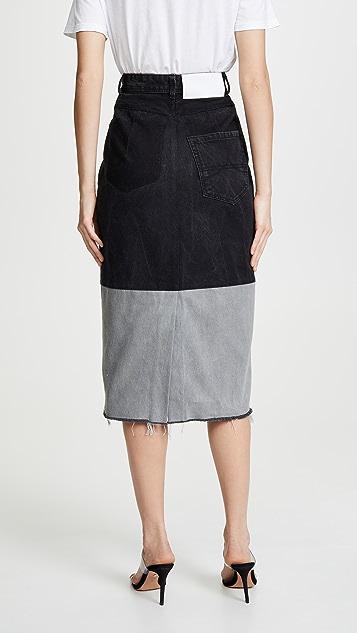 Ksenia Schnaider 改良版牛仔布半身裙