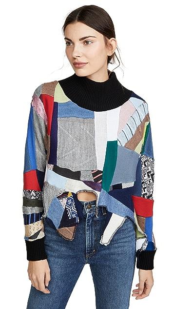 Ksenia Schnaider Oversized Patchwork Sweater
