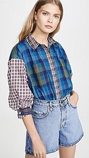 Ksenia Schnaider Mixed Colour Shirt