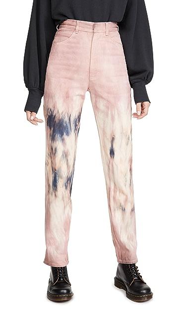 Ksenia Schnaider Mom Purple Tie Dye Jeans