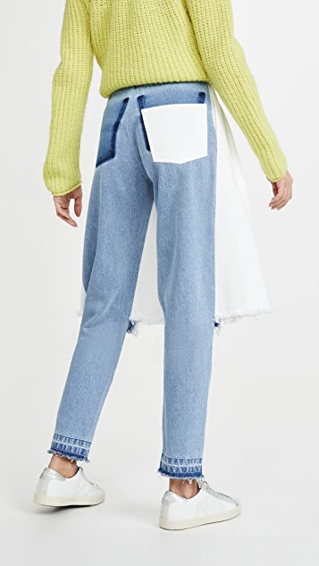 Ksenia Schnaider Light Blue and White Demi Denims Jeans