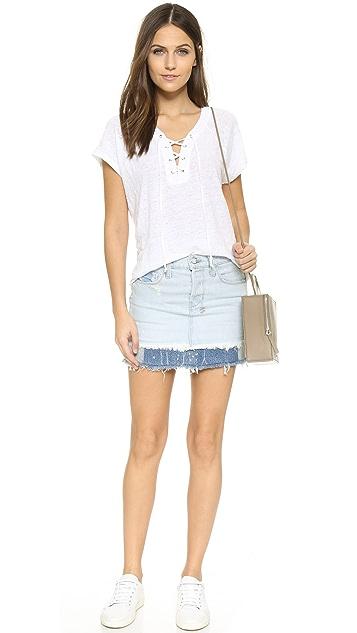Ksubi Cutoff Miniskirt