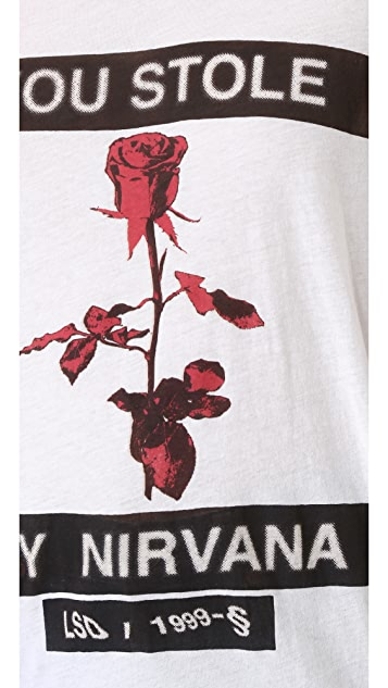 Ksubi Nirvana Rose Sheer Tee