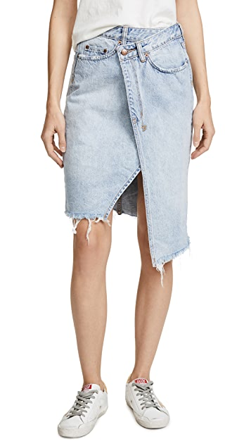 Ksubi Rap Midi Skirt