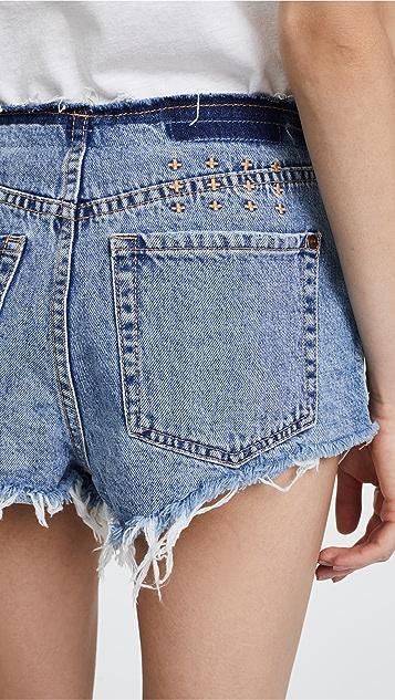 Ksubi Clas-Sick Cut Denim Shorts