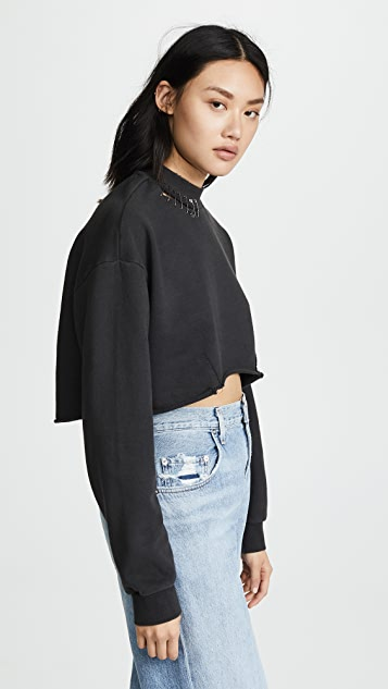 Ksubi Disect Cropped Sweatshirt